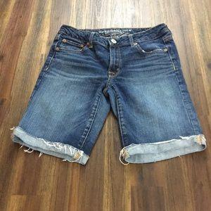 American Eagle Skinny bermuda jean shorts
